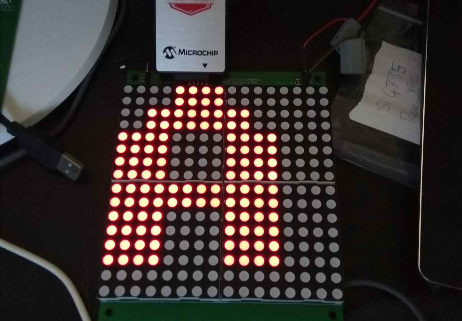 Chainable Large LED character display