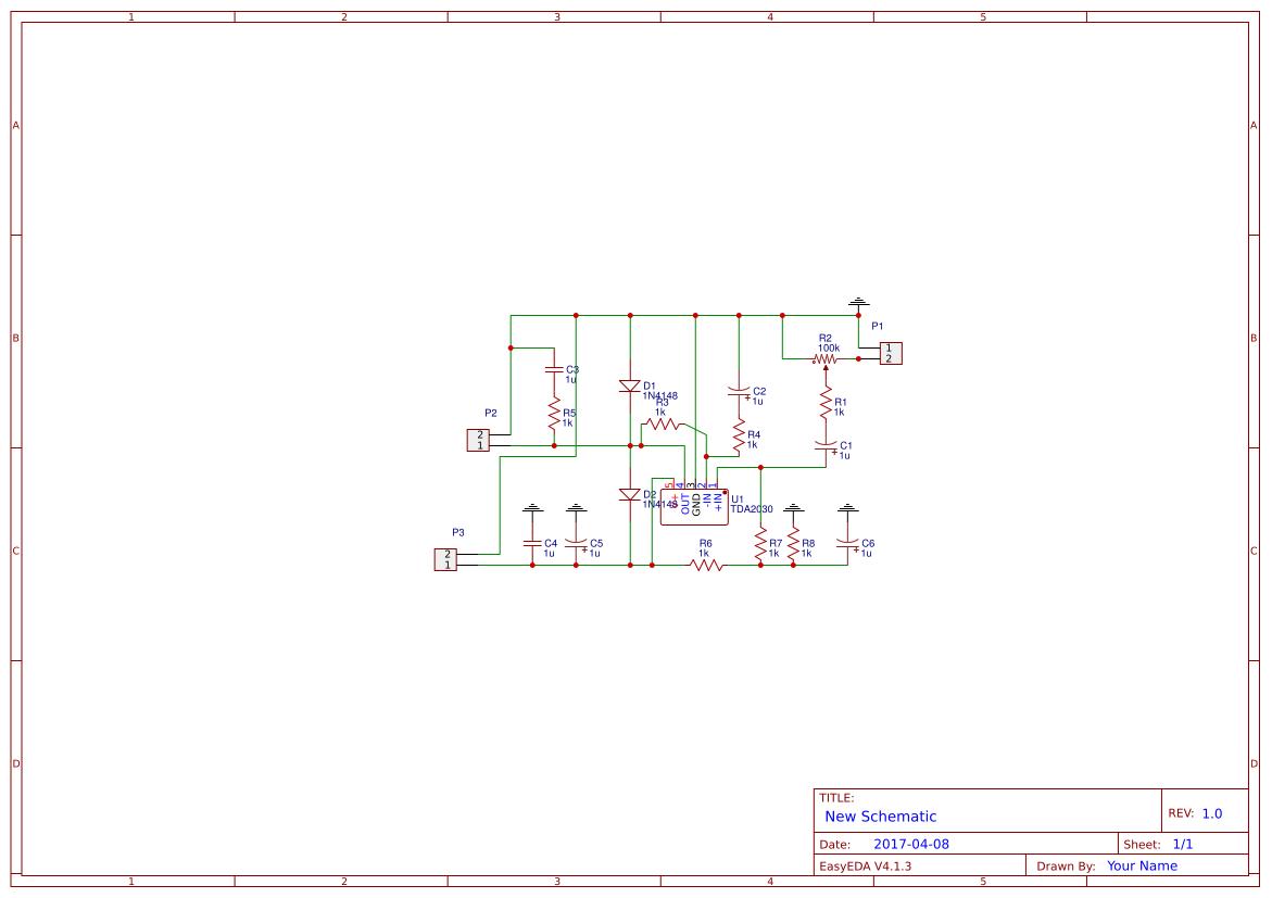 Tda Amp Search Easyeda Tda2030 Complete Tone Control Circuit Diagram Audio Amplifier Mono