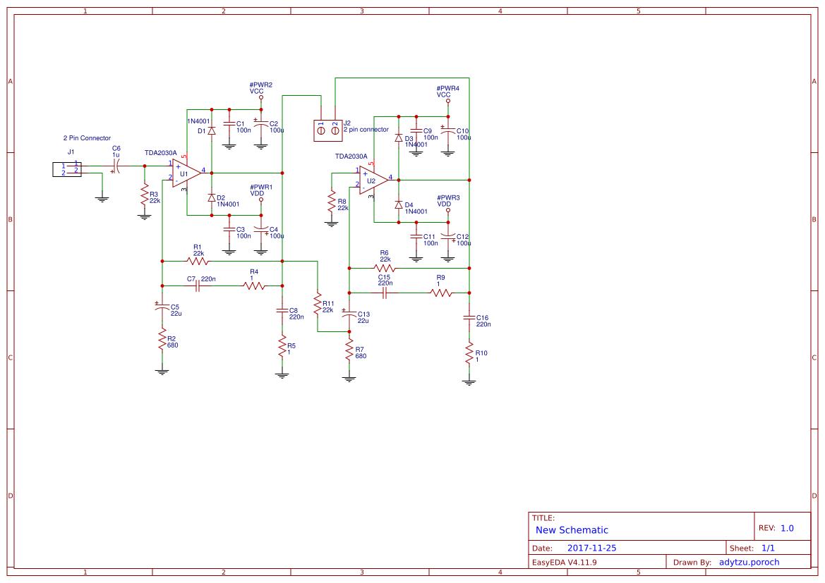 Tda2030a Bridge Amplifier - Circuit Boards