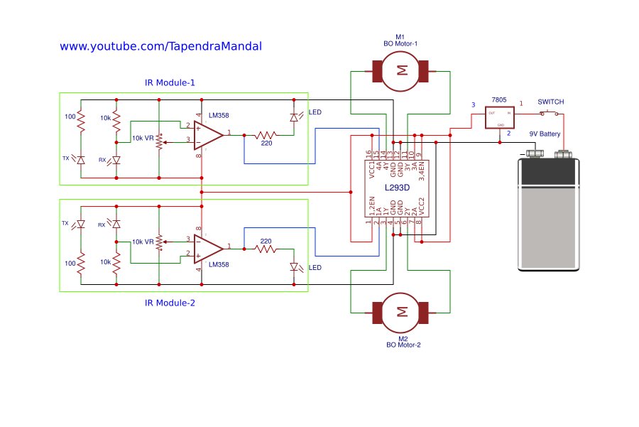 line follower robot without microcontroller - Search - EasyEDA