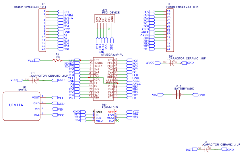 ATMEGA328P-PU with nrf24l01 Resources - EasyEDA
