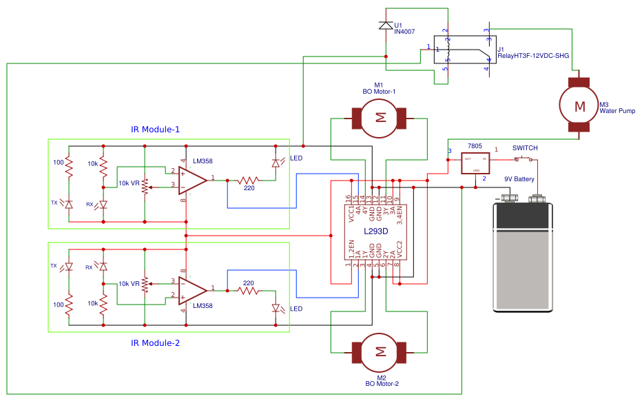 Strange Line Follower Robot Without Microcontroller Search Easyeda Wiring Cloud Peadfoxcilixyz
