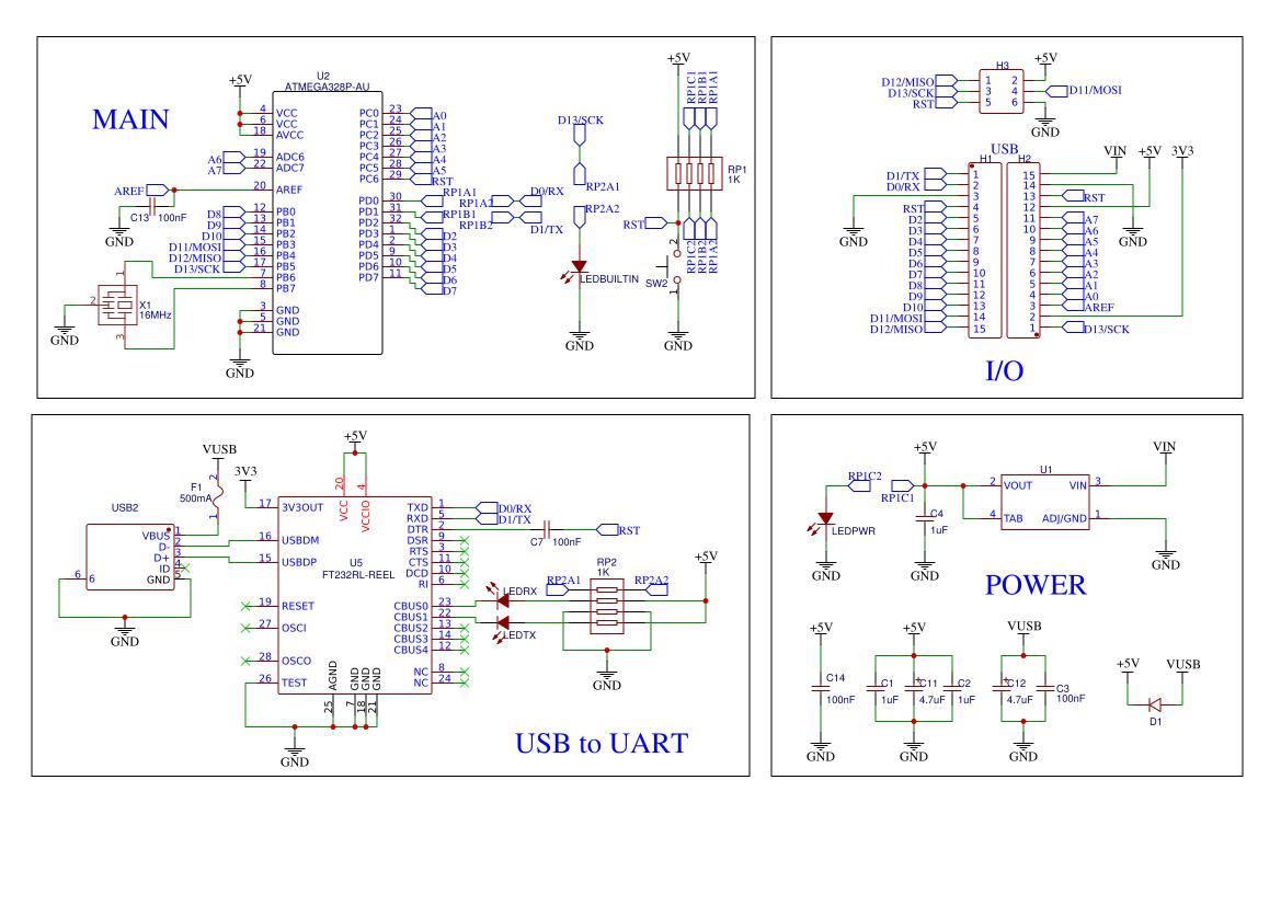 Arduino Nano 3 2 Schematic Resources - EasyEDA