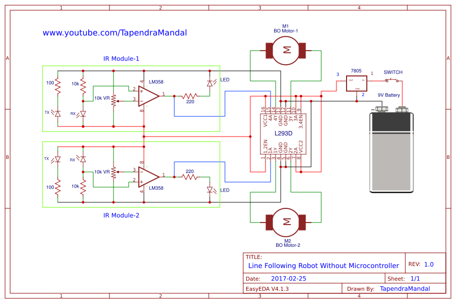 LINE FOLLOWER ROBOT WITHOUT MICROCONTROLLER PDF