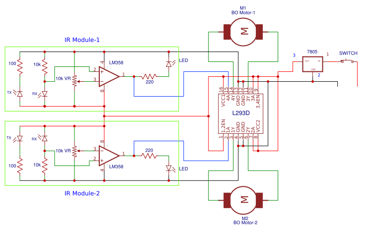 Terrific Line Follower Robot Without Microcontroller Search Easyeda Wiring Cloud Peadfoxcilixyz