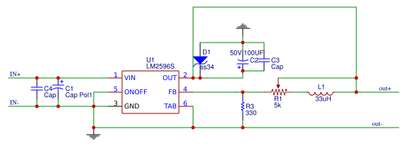 lm2596 pcb - Search - EasA on constant current source schematic, arduino mega schematic, solar post light wiring schematic, typical 5v regulator schematic, 2 amp mc34063 dc-dc converter schematic, buck-boost schematic, dc power supply schematic, 5v audio amplifier schematic, battery powered phone charger schematic, step down voltage regulator schematic, total charge iii schematic,