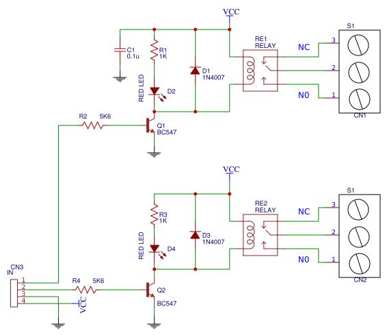 2 Channel relay board copy - EasyEDA