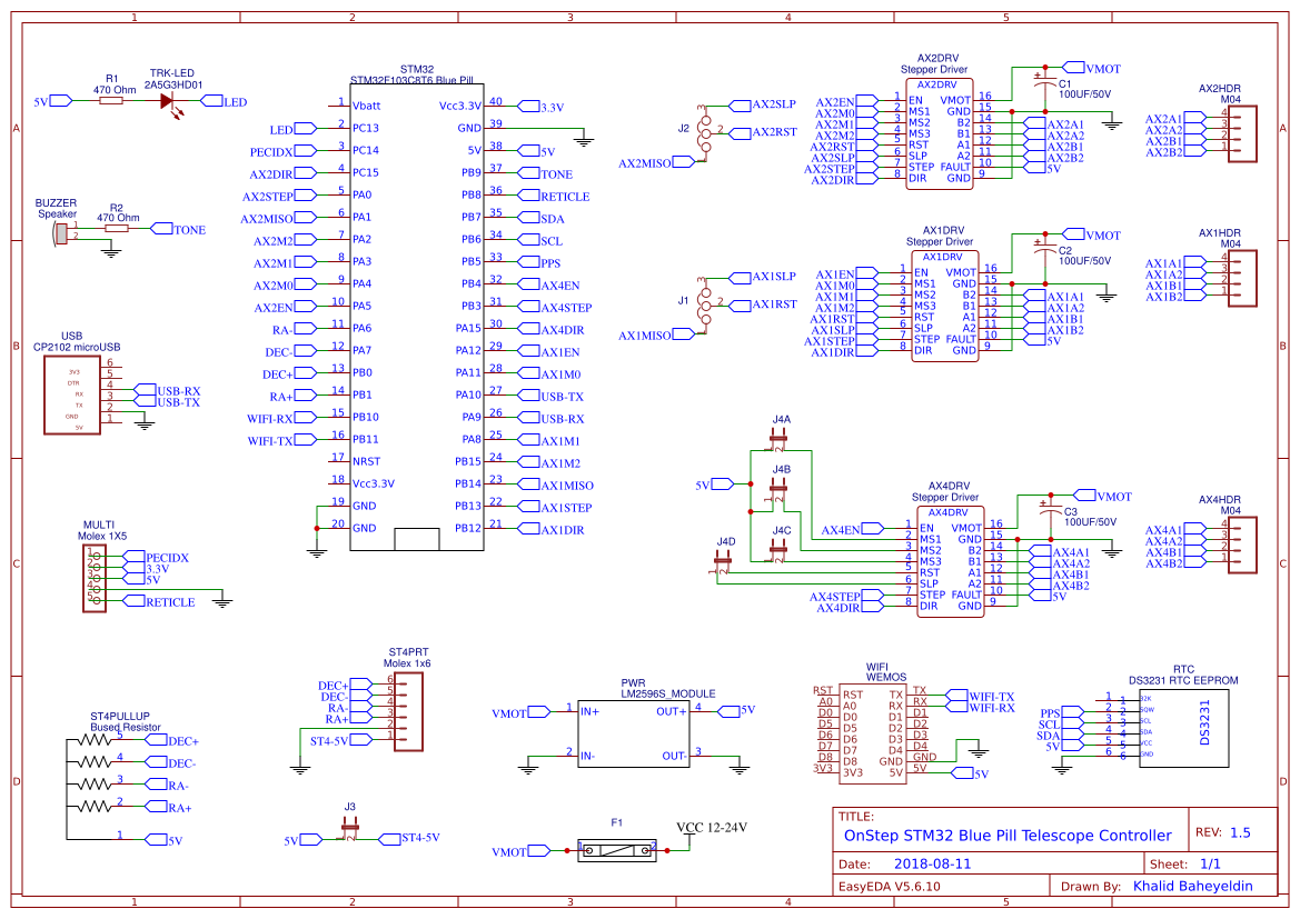 OnStep STM32 Blue Pill copy copy - EasyEDA