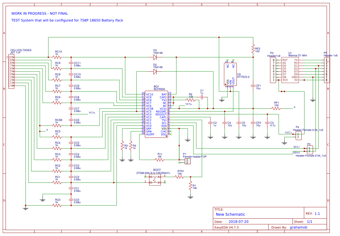 Arduino BMS - BQ76930 - EasyEDA