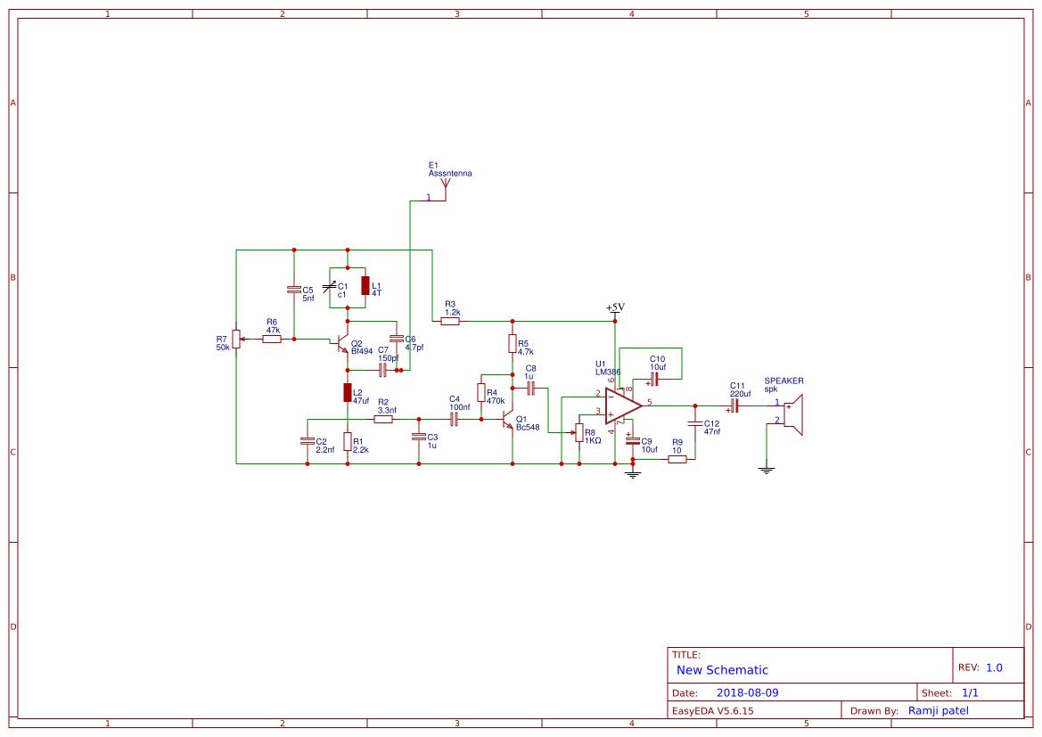 Radio Fm Search Easyeda 100m Simple Transmitter Transistor Receiver By Ramjji Patel