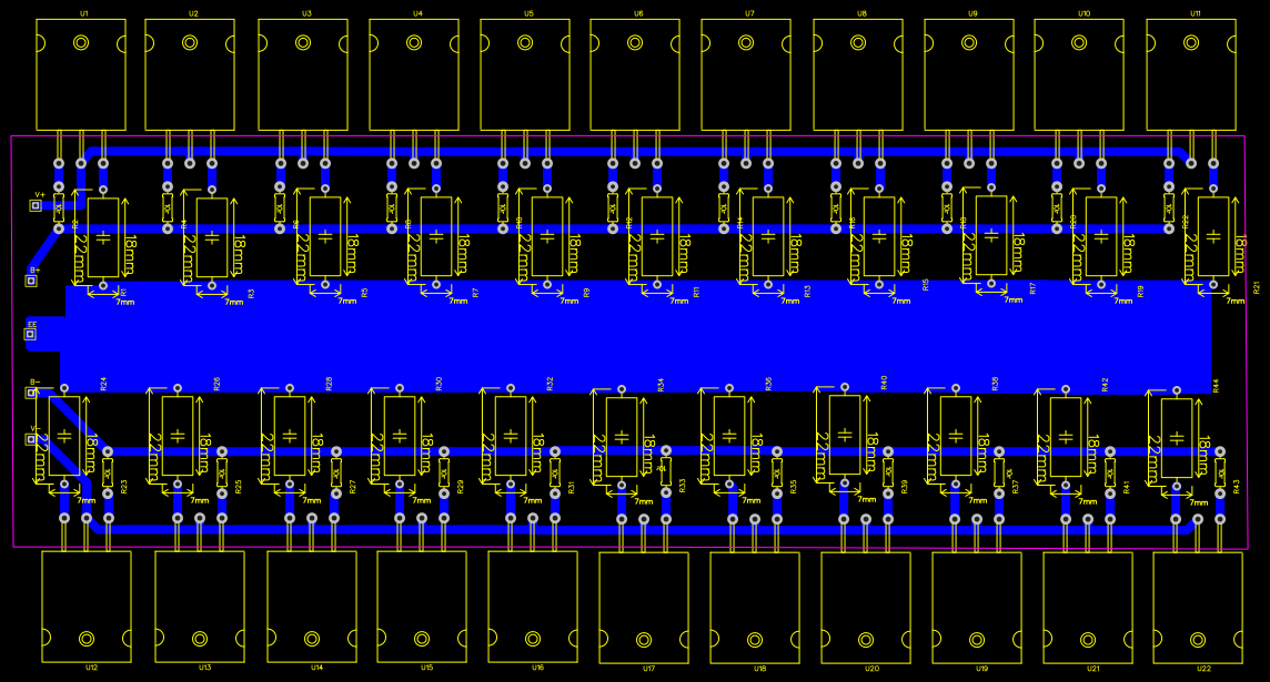500w Power Amplifier Circuit Diagram With Pcb Layout