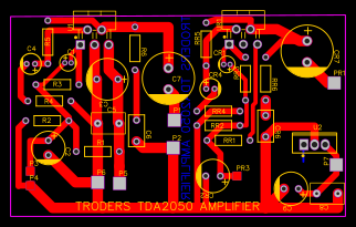 TDA2050 Stereo Amplifier with 5v Supply