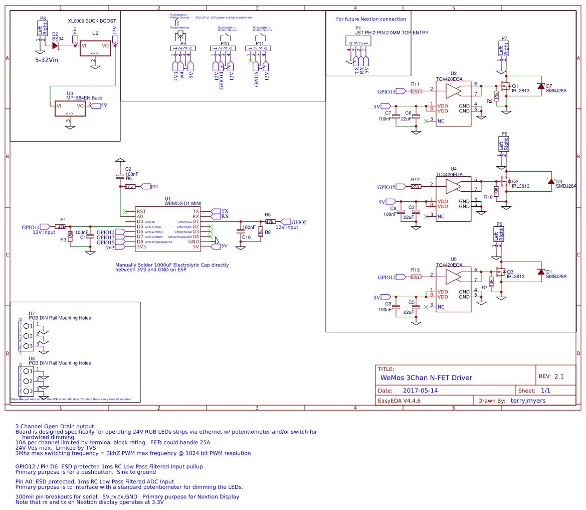 24v Fet Driver Isolated Unipolar Stepper Motor Circuit Izole Drivers Wemos Chan Easyeda 1169x1016