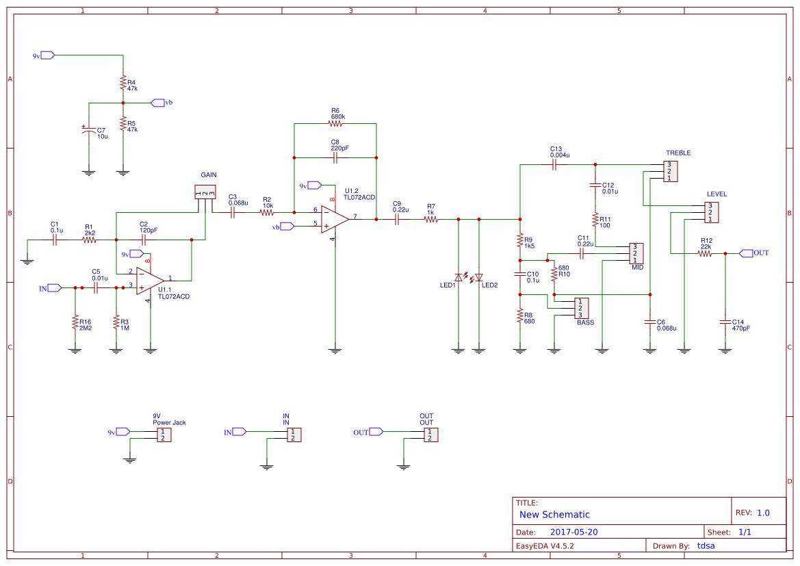 DIY MARSHALL GUVNOR DISTORTION PCB
