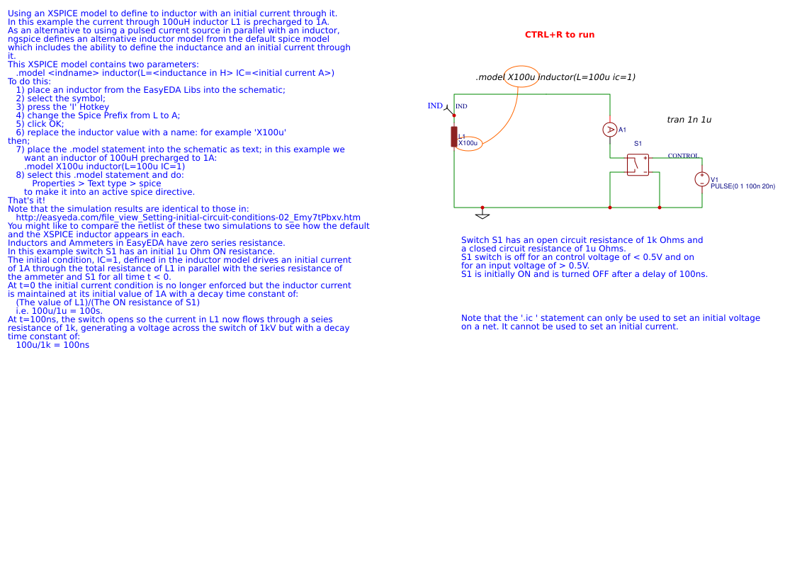Setting Initial Circuit Conditions 04 Easyeda Open Resistance In Editor
