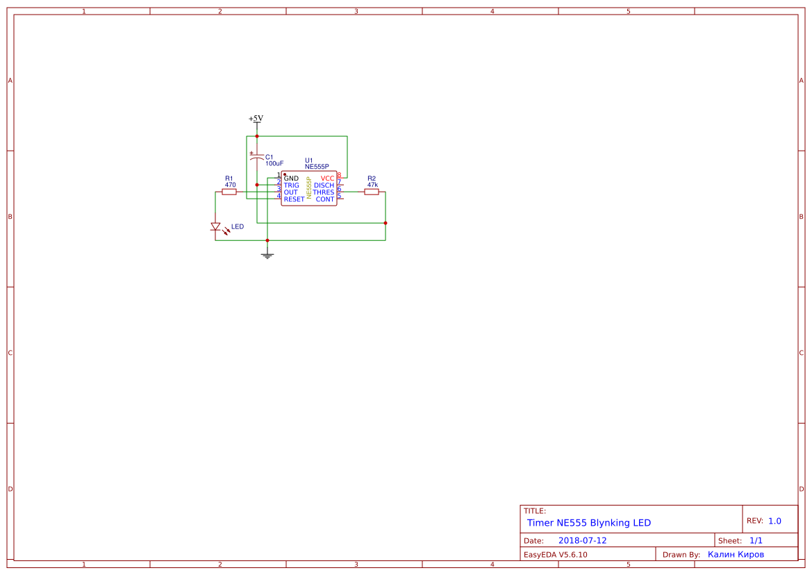 Led Blinking Circuits Search Easyeda Simulation Result Of Circuit Diagram Ne555