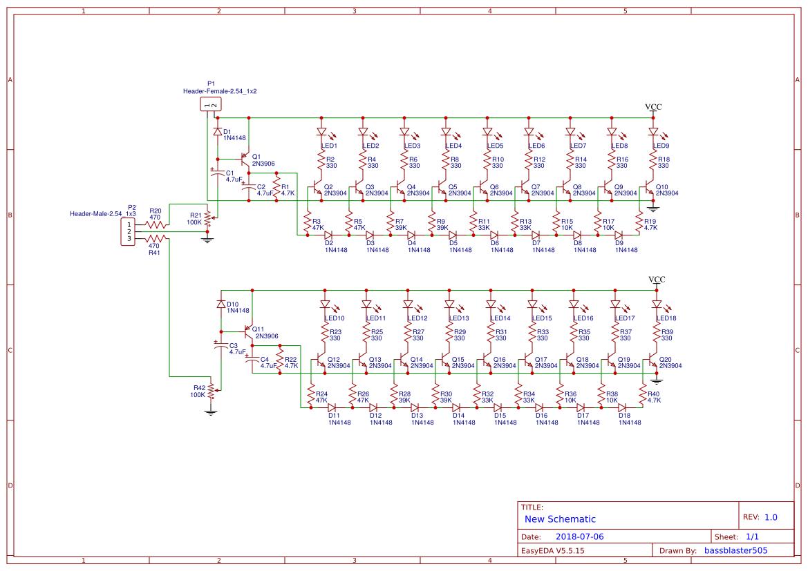 Bassblaster505 Easyeda Tda7294 Bridge Power Amplifier Circuit Diagram Electronic Project Descrete Amp Level Meter