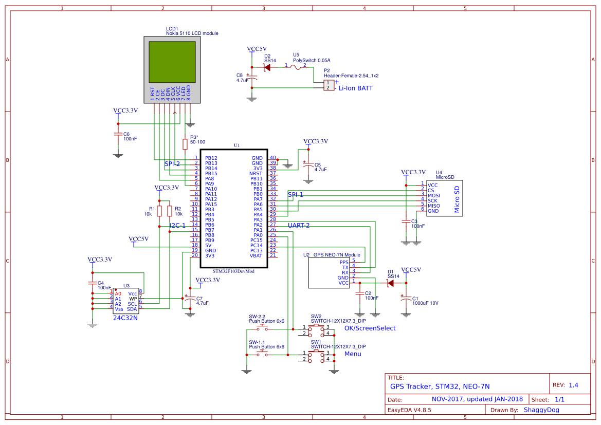 GPSTracker-STM32-Neo-7N - EasyEDA