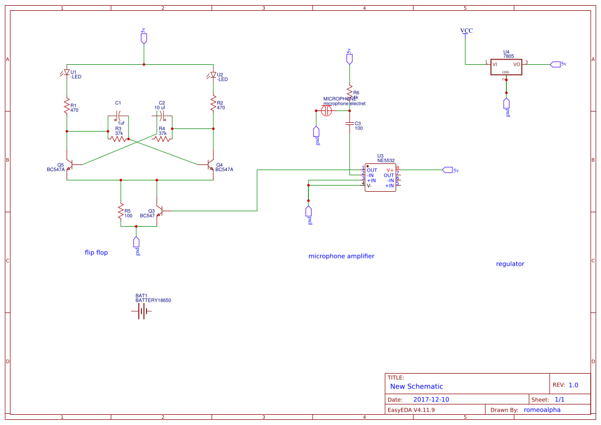 Analog Clap Switch Easyeda Simple Circuit Without Electronic Project Final