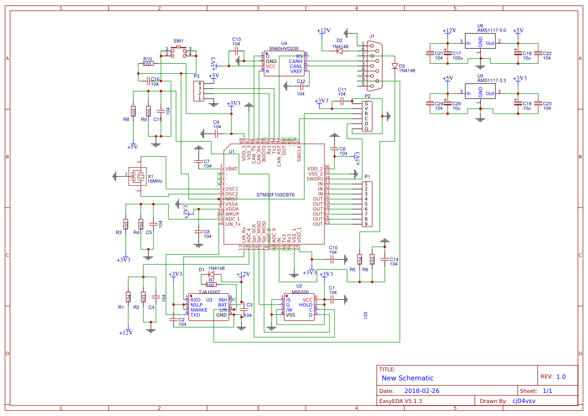 STM32F103 CAN BUS - EasyEDA