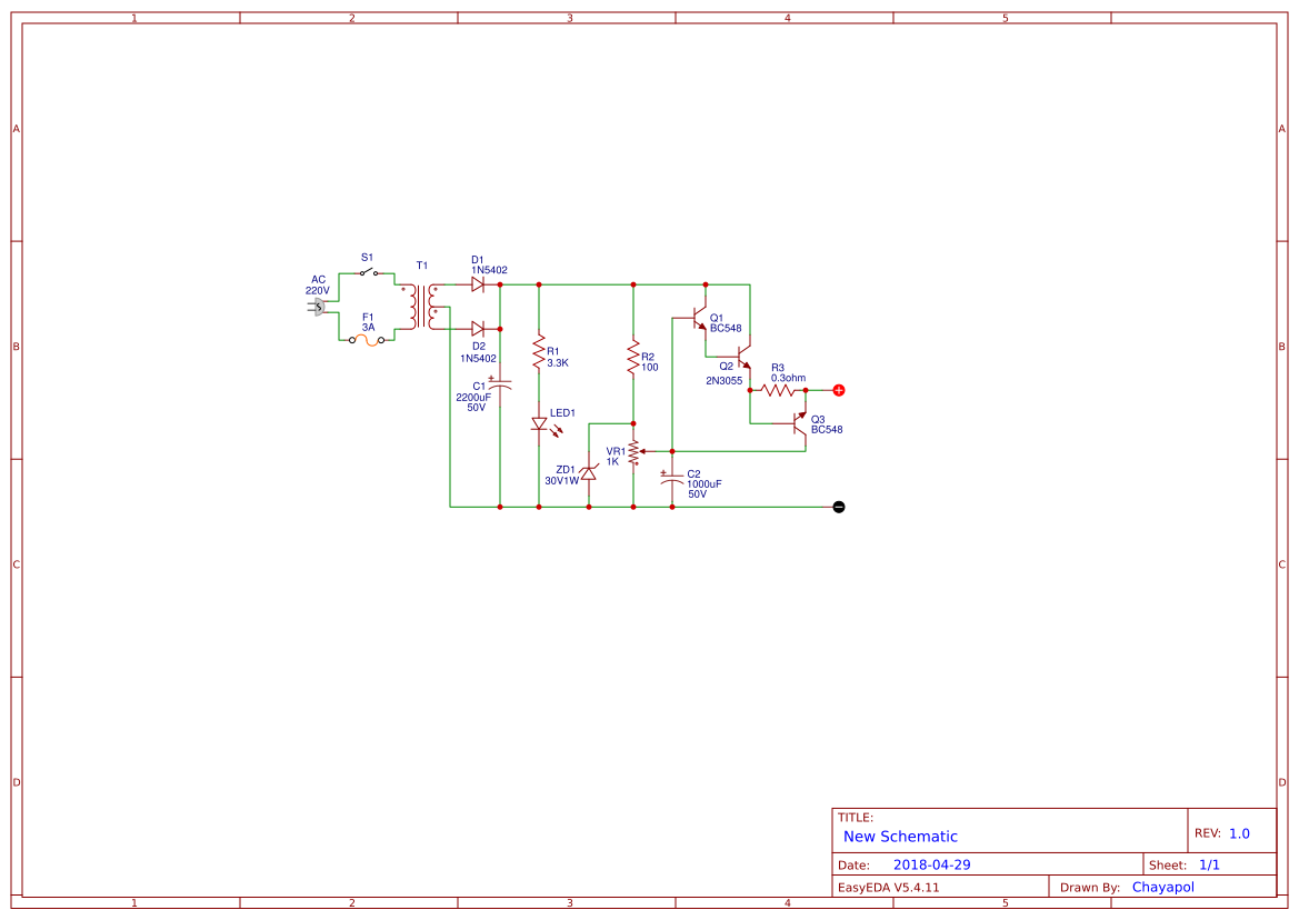 Variable Power Supply Circuit 0 30v 2a Easyeda Diagram The Diagram2