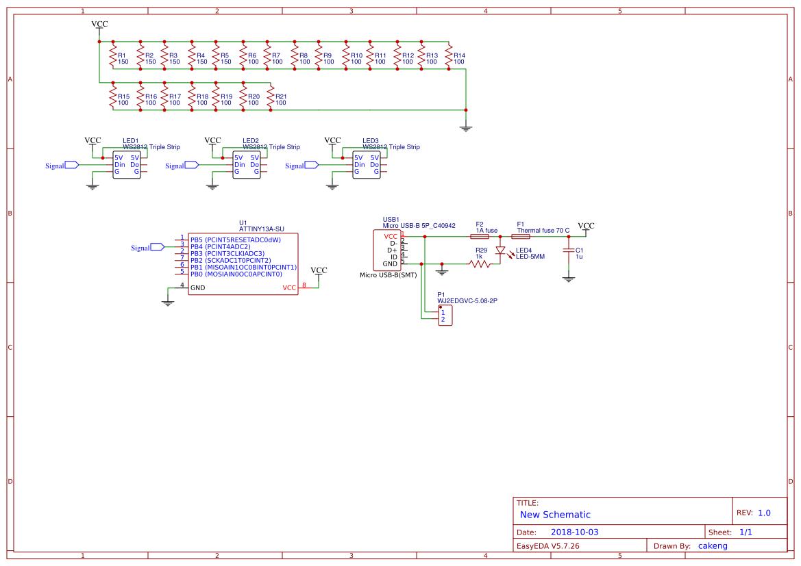 8mhz Crystal Search Easyeda Tester Diagram Ws2812 Acrylic Lamp