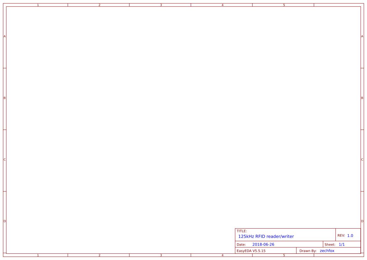 125kHz RFID reader/writer - EasyEDA