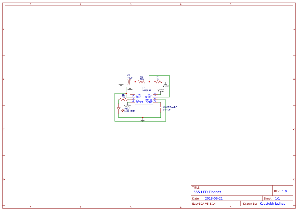 555 Ne555 Search Easyeda 4017 Led Pattern Flasher