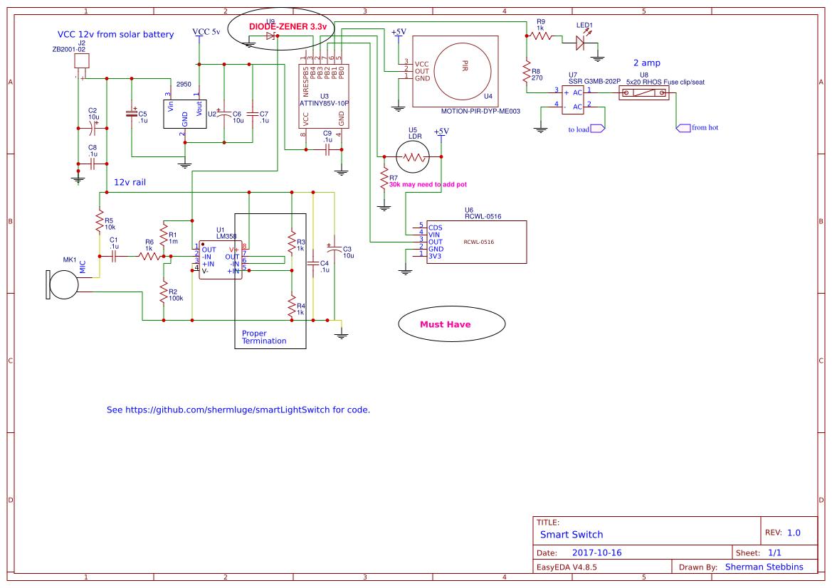 smart light switch - EasyEDA