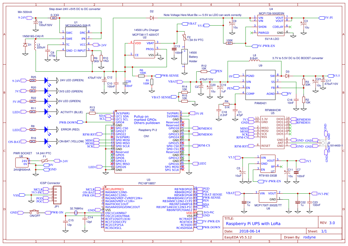 Raspberry Pi With Ups Lora And Rtc For Base Station Gateway Electrical Schematic