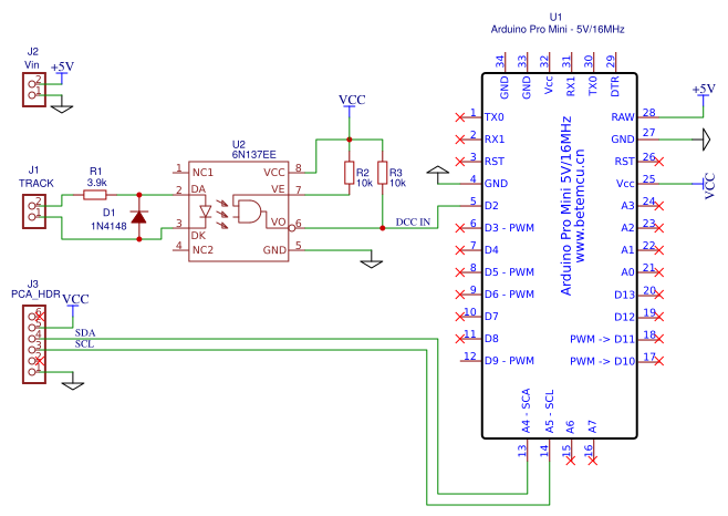 DCC decoder for PCA9685 - EasA on