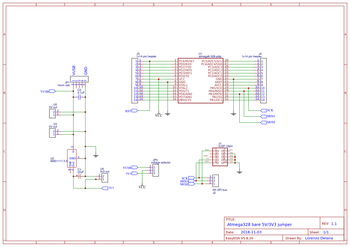 Explore Easyeda Oscillator With Fixed Frequency And Variable Duty Cycle Circuit Atmega Barebone V2