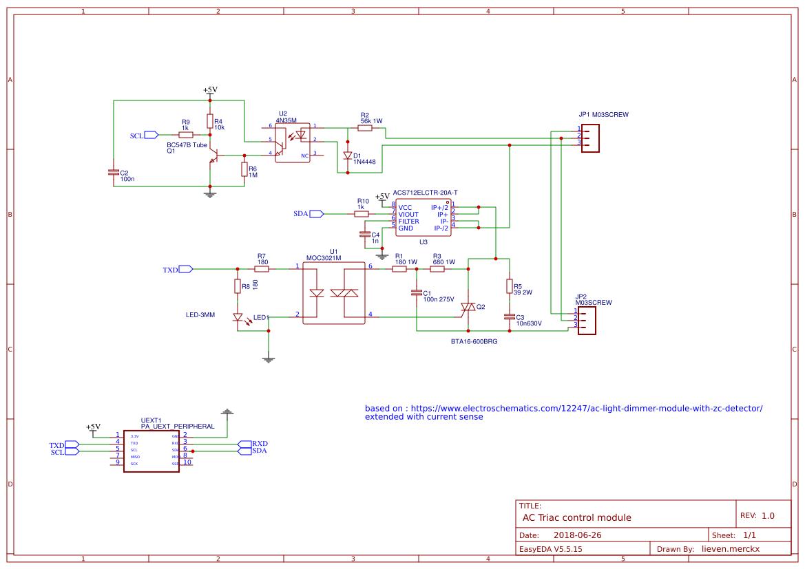 Explore Easyeda Isolated Ac Detector Relay Switch Circuit Diagram Triac Control Zero Detection Current Sense Optical