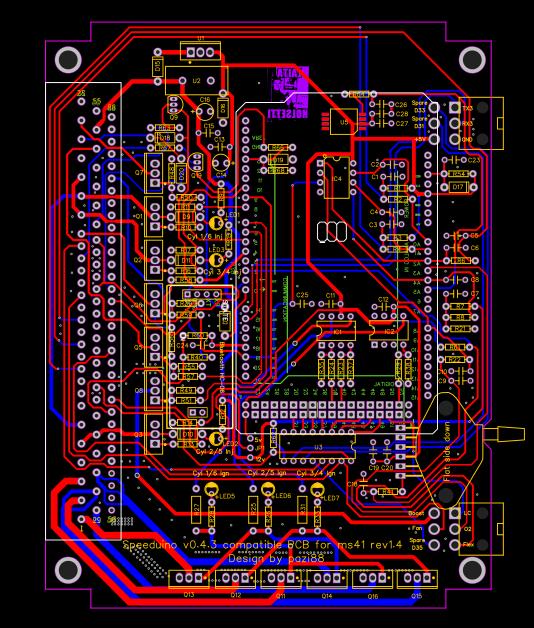 2.1 Speeduino compatible BMW m52 PnP PCB rev