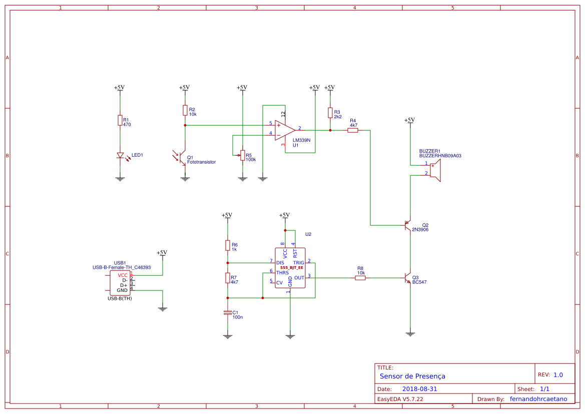 Explore Easyeda Electronic Buzzer With Ic Timer Ne555 Schematic Design Apc Atari Punk Console 556 555 Sensor De Presena