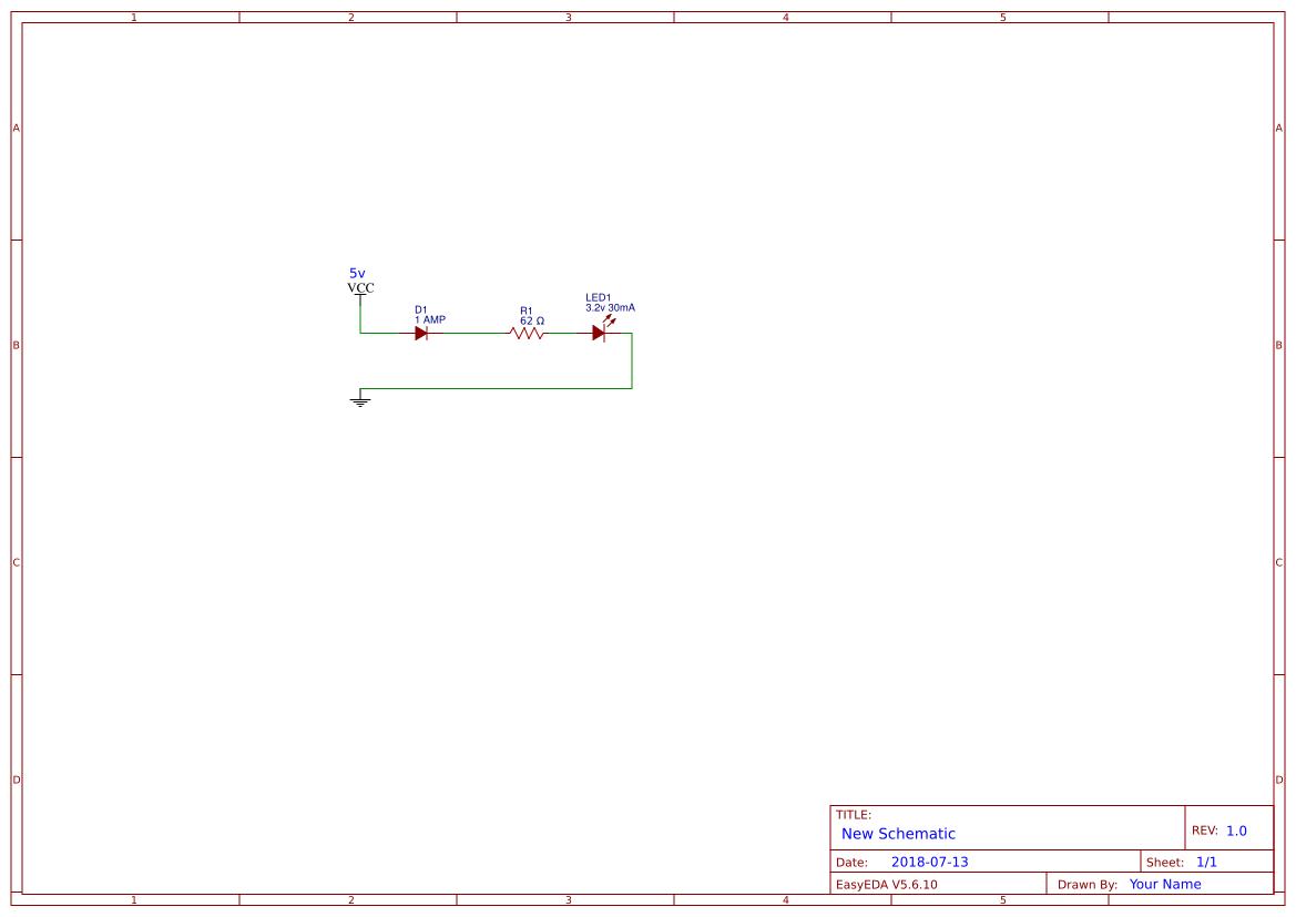 Flashing Led Circuit Search Easyeda 555 Alternating Flasher Electronic Design Simple
