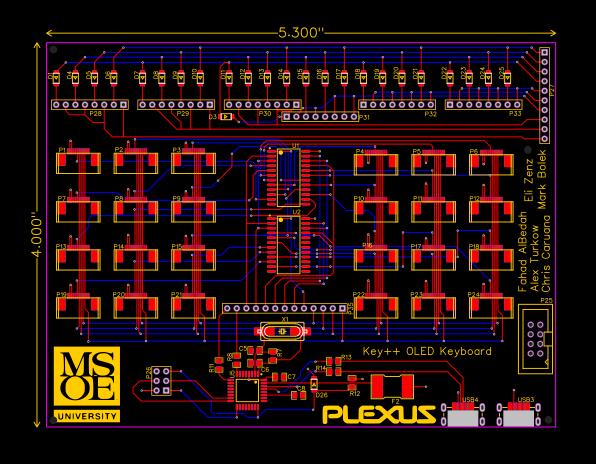Keyboard PCB - EasyEDA