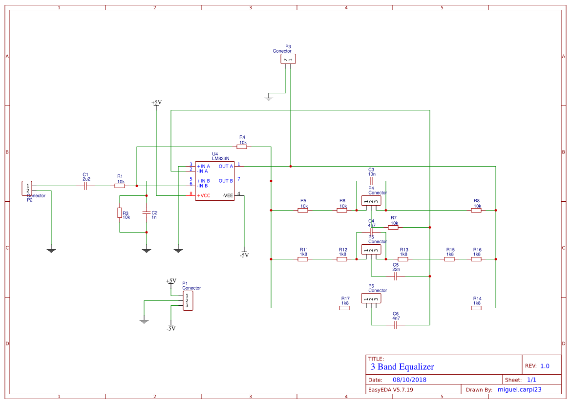 Graphic Equalizer Search Easyeda 5 Band Circuit Diagram Default Thumb