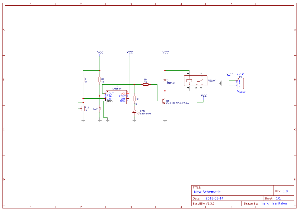 light activated switch schematic diagram