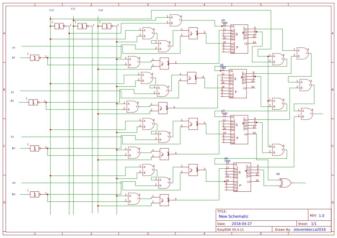 Arithmetic Logic Unit Design Easyeda Diagram Sheet 2