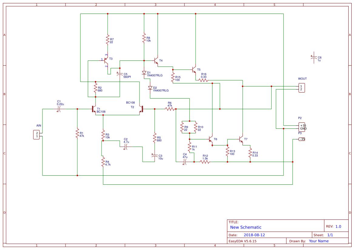 100 Watts Subwoofer Lifier Circuit Diagram