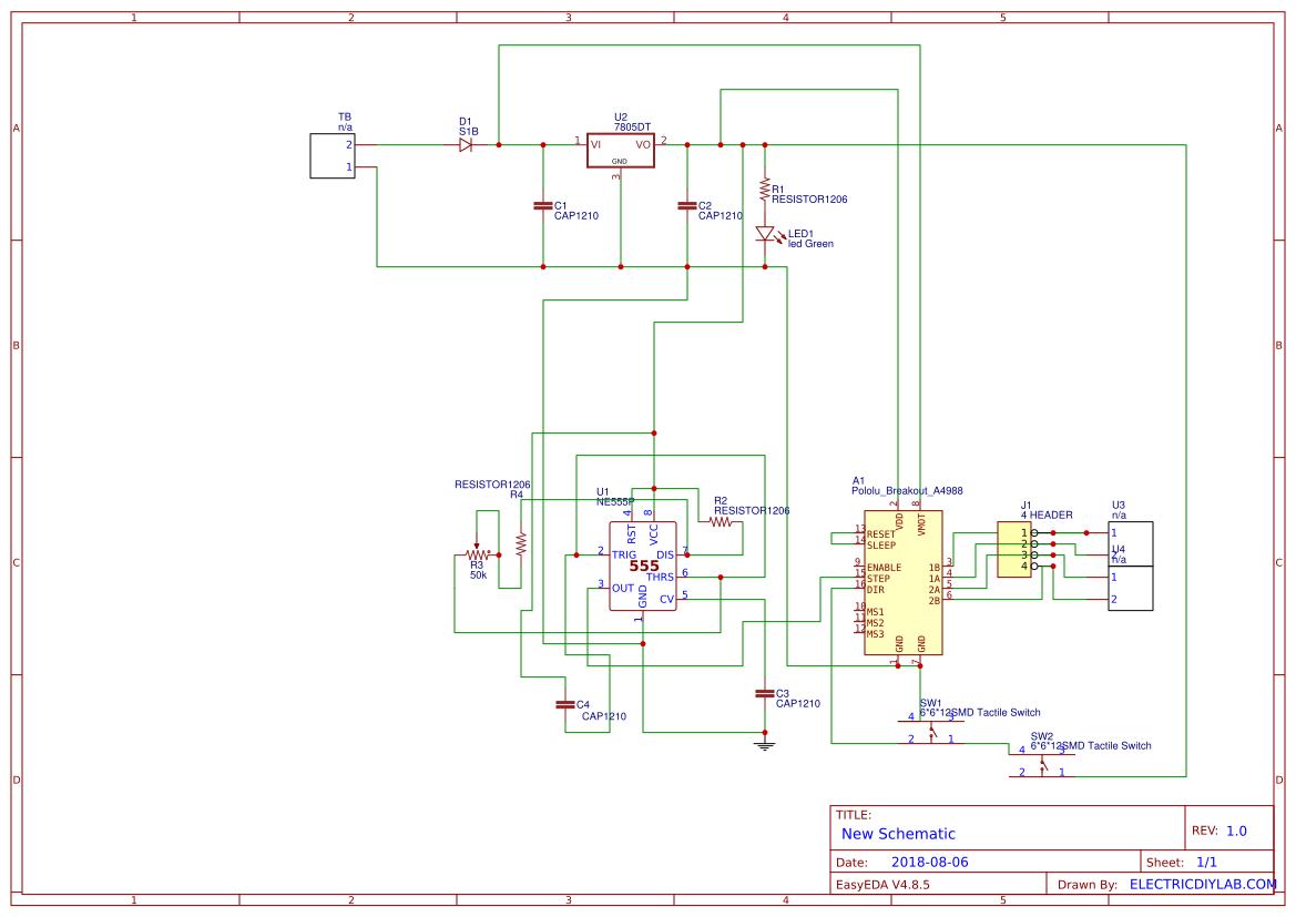 Ic555 Based Stepper Motor Testing Module Easyeda Ic 555 Diagram Led Chaser Circuit