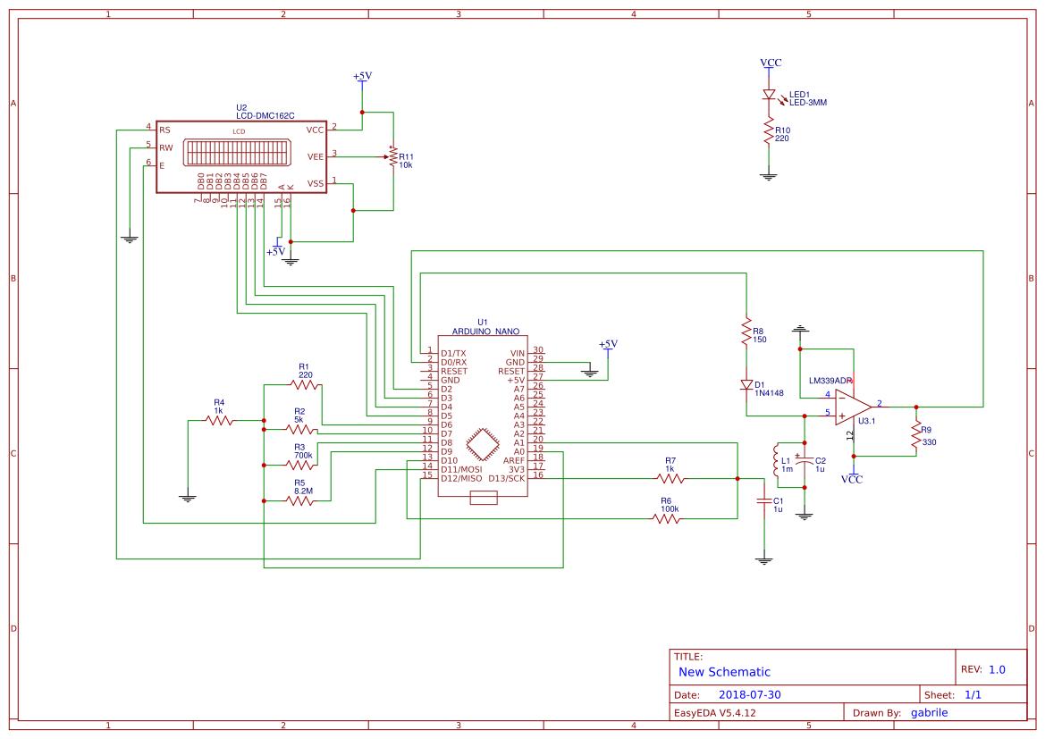Rlc Meter Easyeda Lcr Circuit Diagram Sheet 1
