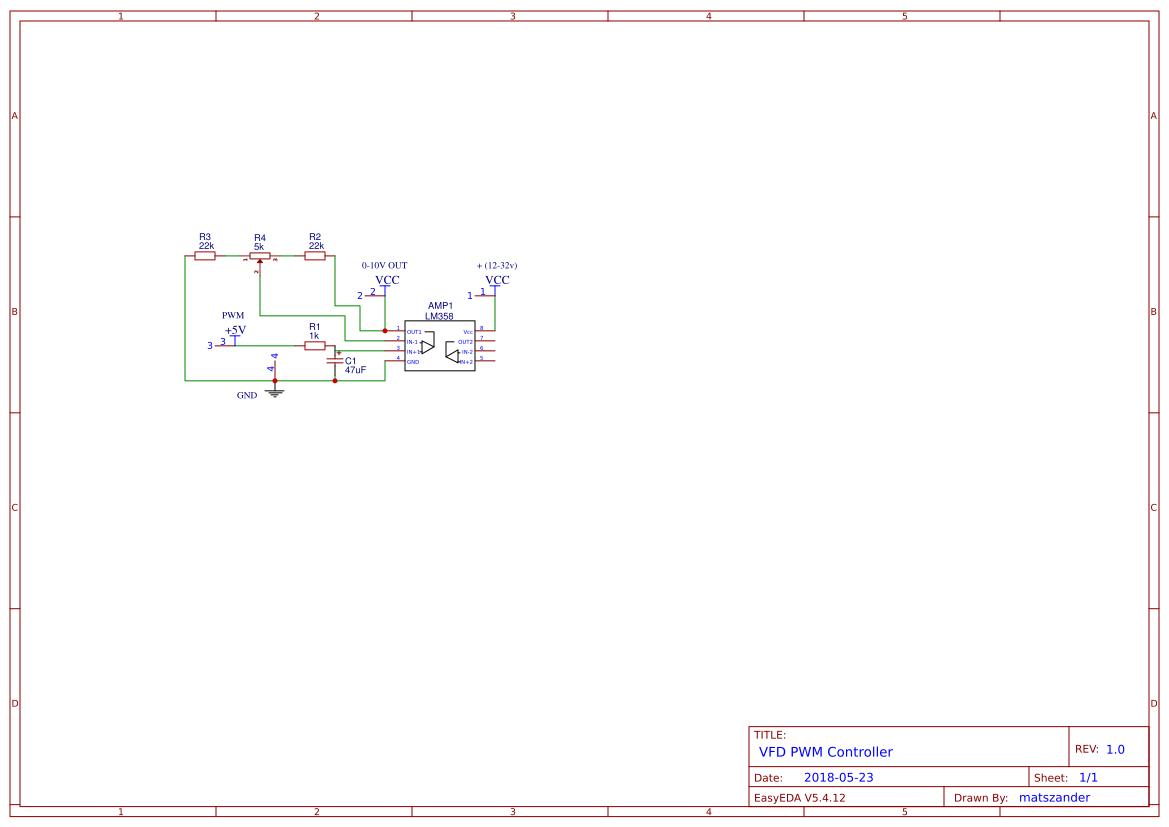 Arduino PWM to VFD 0-10v Controll - EasyEDA