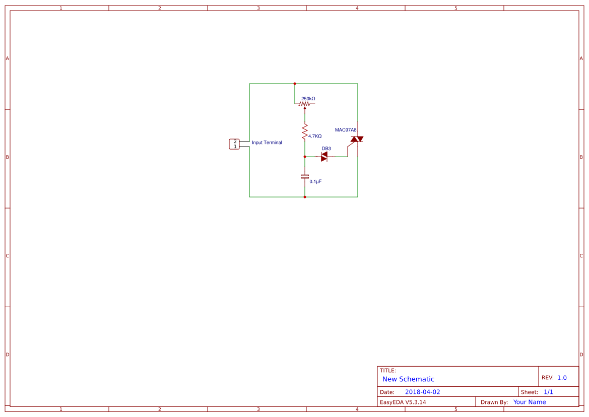 Triac Btb16 Search Easyeda Circuits Projects 10 Diac Dimmer Circuit