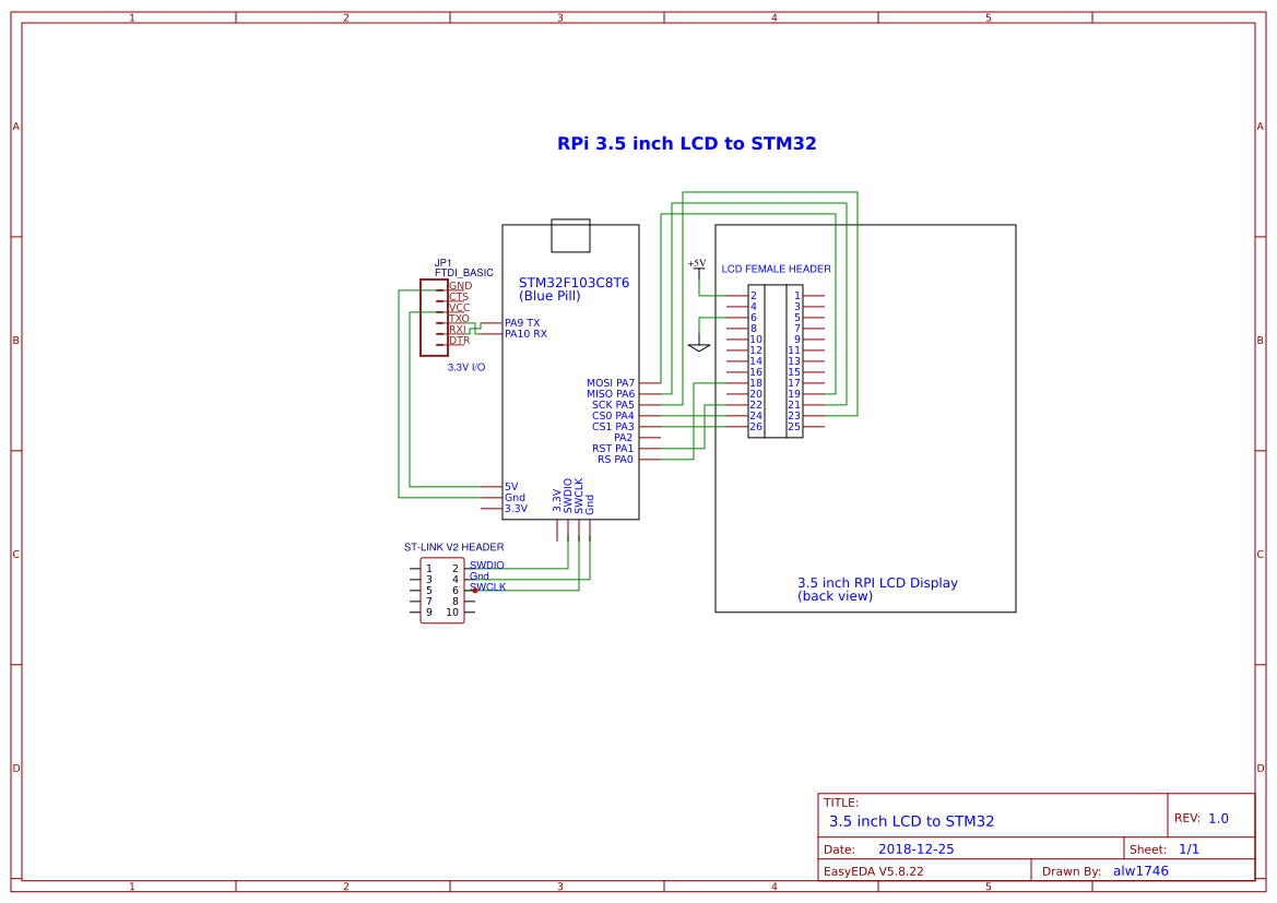3 5 inch LCD for STM32 - EasyEDA