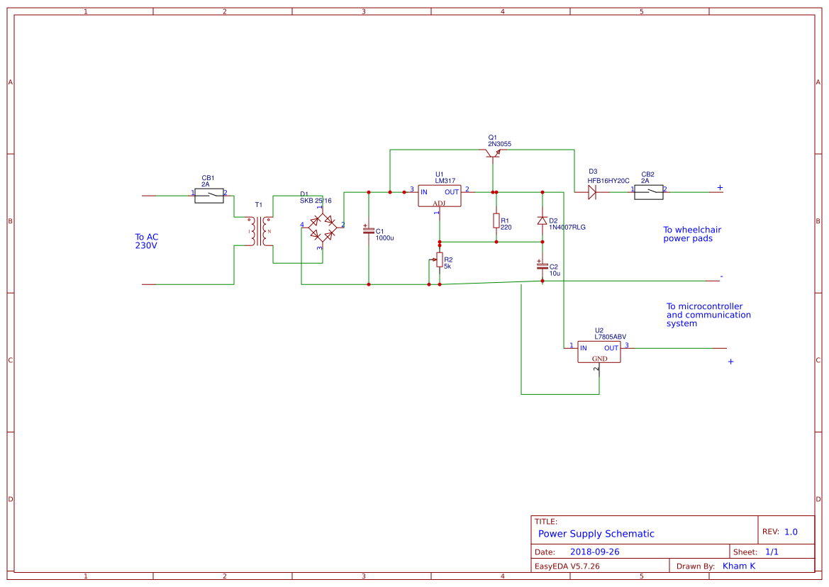 Lm317 Supply Search Easyeda Power Using Lm 317 Lm337 Electronic Circuits And Diagram Psu