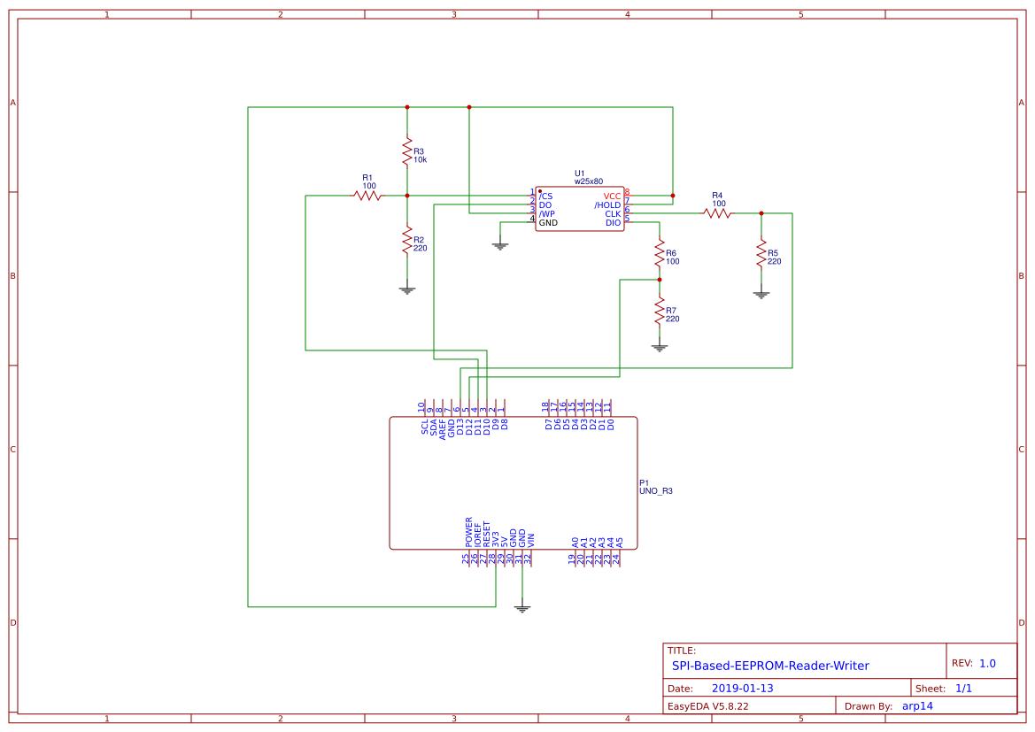 Arduino-SPI-EEPROM-Reader-Writer - EasyEDA