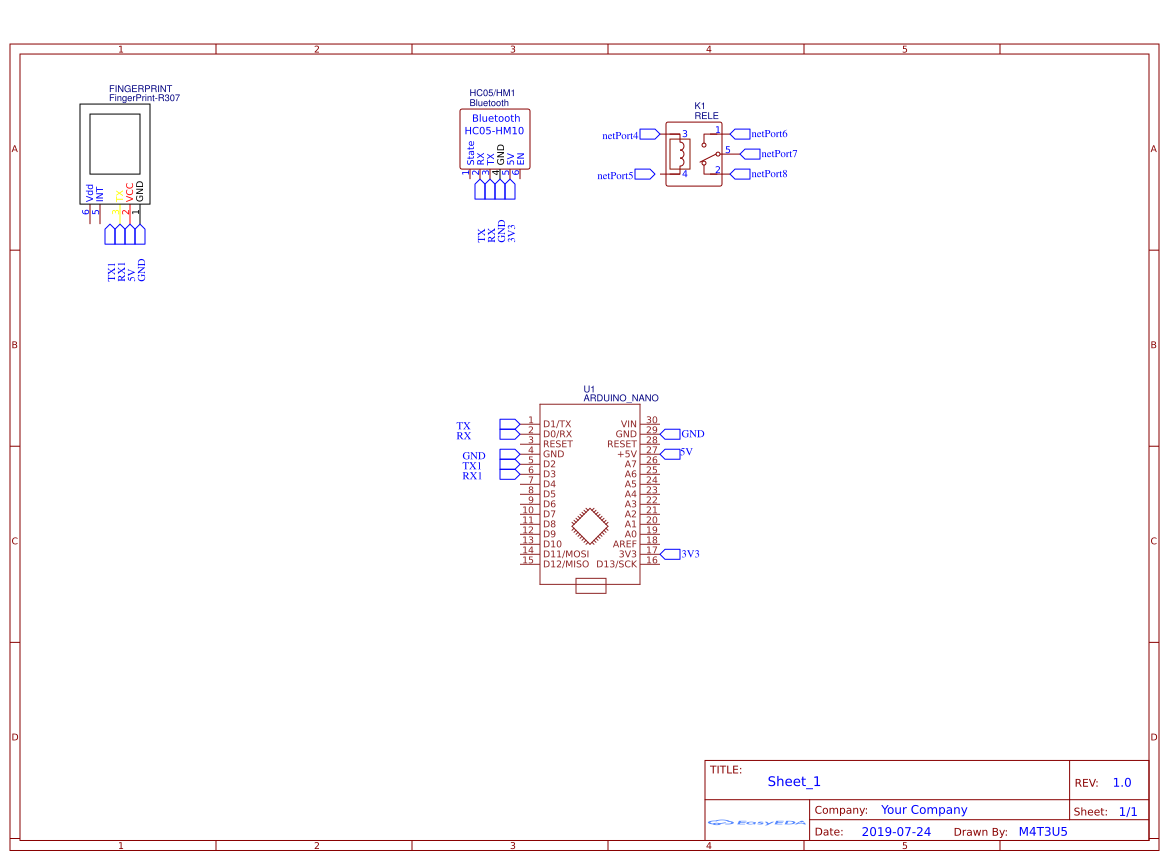 8X48 74HC595 LED Matrix - EasyEDA