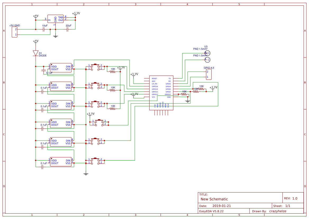 ESP32 OLED TTGO V2 0 Pro - EasyEDA